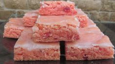Strawberry Brownies - They taste like a bar cookie version of strawberry cake but easier to make, transport, and eat (no utensils required). This is one of the most repinned recipes from my sweet tooth pinterest ...