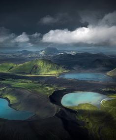 Lake Ljótipollur (left) and unknown lake (right), Iceland Iceland Travel Destinations Honeymoon Backpack Backpacking Vacation Landscape Photography Tips, Nature Photography, Travel Photography, Aerial Photography, Photography Women, Night Photography, Photography Ideas, Beautiful World, Beautiful Places