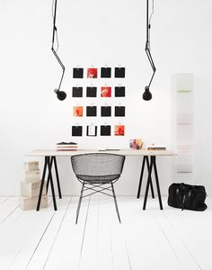Minimalist work spaces can help you focus and get creative #interiordesign #workspace