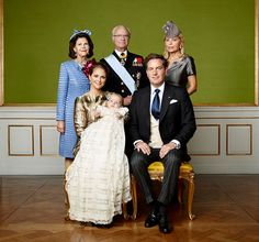 Prince Nicolas of Sweden's christening: Swedish royal family