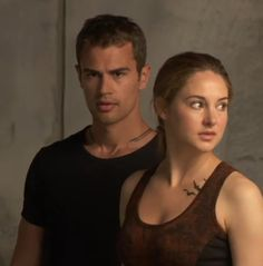 Tobias & Tris... look at the tattoos! So disappointed they didn't give Tris her shoulder tattoos though... :/ #divergent