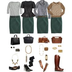 One Wardrobe Piece Styled Four Ways - inspiration for turquoise skirt