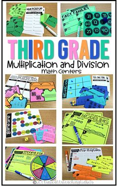 Third Grade Math Centers Multiplication and Division Concepts and Models – Cool Math Games – Cool Math – Hooda Math Games 3rd Grade Centers, Third Grade Math, Grade 3, Math Division, Multiplication And Division, 3rd Grade Division, Big Ideas Math, Math Stations