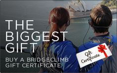 Bridge climb gift cards