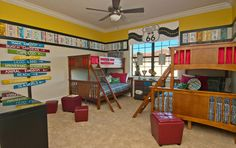 Zoom with Style in 20 Car Themed Bedroom for Your Boys Car Themed Bedrooms, Bedroom Themes, Bedroom Decor, Boy Bedrooms, Boys Home, Hidden Rooms, Built Ins, Decoration, Bunk Beds