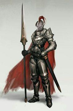 f Fighter Plate Armor Cloak Helm Lance Sword midlvl