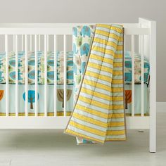 Baby Bedding: Elephant Patterned Crib Bedding in Crib Bedding Collections   The Land of Nod