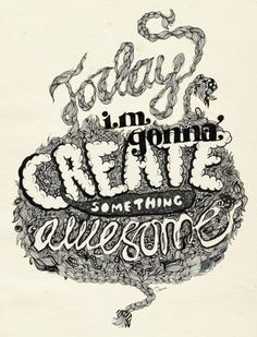 20 awesome illustrated typography inspirations