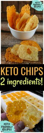 Lazy Keto Chips Recipe made with only 2 ingredients!