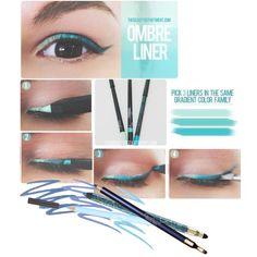 """""""Ombre Eyeliner"""" by aleksandravidic on Polyvore"""