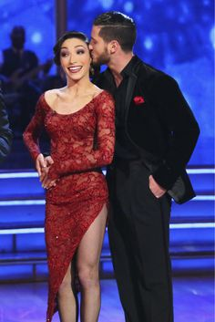 Meryl Davis and Valentin Chmerkovskiy danced the Argentine Tango on week 4 of ABC's 'Dancing With The Stars' on April 7, 2014.