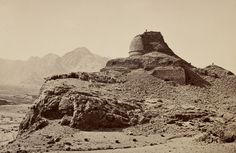 Ruined Buddhist Stupa in the Khyber Pass region, c. AD 200 – 400, Photo by: John Burke   © The British Library Board, Photo 487/(41)