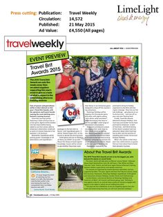 Event Preview Brit Awards (1) - Travel Weekly - 21 May 2015