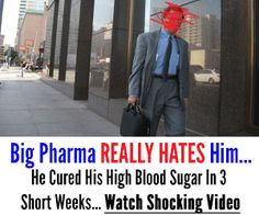 If you or a loved one is suffering from high or uncontrollable blood sugar, than you MUST watch this video.  Watch Eye Popping Video Now https://www.youtube.com/watch?v=T6b282rsojw  Watch it now before it gets taken  down. Remember to take notes throughout the video.