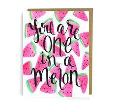 Du bist einer in eine Melone. von GeorgiePearlDesigns auf Etsy
