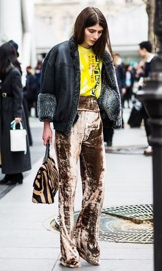 How to Wear Velvet Post–Party Season via @WhoWhatWear