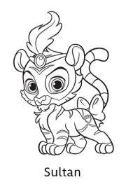 fern is a pink owl with pretty purple eyes, a light pink tail and ... - Disney Palace Pets Coloring Pages