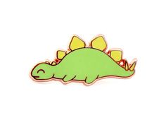 Sleepy Stegosaurus Enamel Pin dinosaur pin hard enamel pin