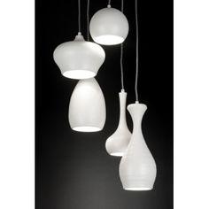 Gezien op Beslist.nl: Hanglamp 89294 modern metaal wit mat rond