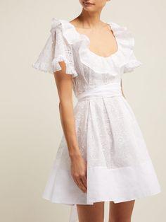 Fashion Photo, Fashion Models, Fashion Looks, Beach Wear Dresses, Summer Dresses, White Mini Dress, Embroidery Dress, Fashion Stylist, Dream Dress