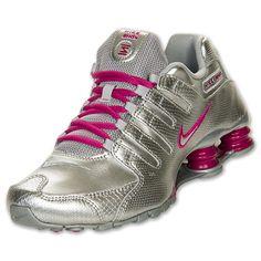 Nike Shox NZ EU Women's Running Shoes | FinishLine.com | Metallic Silver/Berry