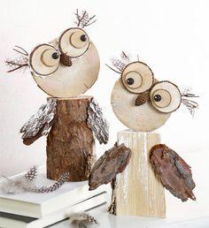 Wooden owls :-)                                       Gloucestershire Resource Centre http://www.grcltd.org/scrapstore/