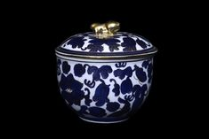 Foo Dog Blue And White Lidded Cookie Jar