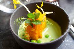 Un vent salé souffle sur Dessance, le restaurant de cuisine du sucré Paris Restaurants, Souffle, Cooking, Recipes, Snap Peas, Carrot, Sugar, Kitchens, Kitchen