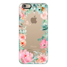 iPhone 6 Plus/6/5/5s/5c Case - Lush Floral Watercolor Transparent by... (255 VEF) ❤ liked on Polyvore featuring accessories, tech accessories, phone cases, phone, iphone case, iphone cover case, apple iphone cases, transparent iphone case and floral iphone case