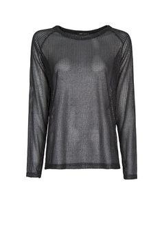 MANGO - Open knit metallic sweater