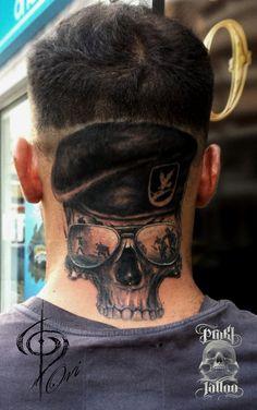 head skull tattoo army war