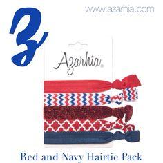 Red and blue hairtie pack, Azarhia