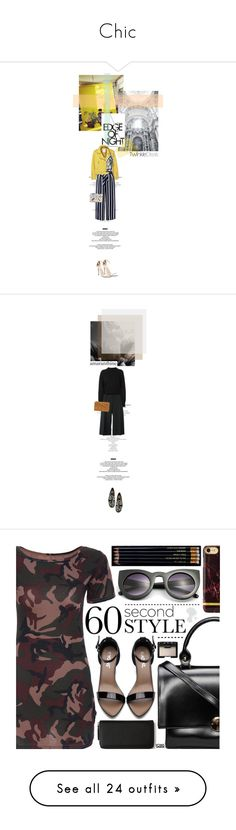"""""""Chic"""" by tiffthemagicdragon ❤ liked on Polyvore featuring StyleNanda, MANGO, Monsoon, chic, mango, yellow, stripe, twinkledeals, Alexander McQueen and Jil Sander"""