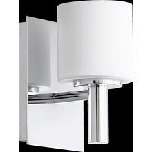 """View the Quorum International 5668-1 6.5"""" Height 1 Light Bathroom Sconce with Satin Opal Shades at LightingDirect.com."""