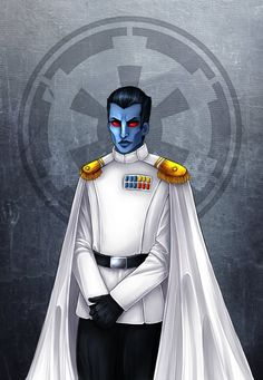 Rebels version of him was not so good so I did my own ^^' But good he was made canon again, not too much aliens in Star Wars. Thrawn Trilogy, Saga, Darth Bane, Grand Admiral Thrawn, Star Wars Canon, Star Wars Characters Pictures, Evil Empire, Jedi Sith, Graphic Artwork