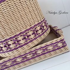 Willow Weaving, Basket Weaving, Types Of Weaving, Paper Weaving, Paper Basket, Wicker Baskets, Diy And Crafts, Crochet Hats, Pattern