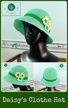 Crochet Daisy's clothe hat - Maz Kwok's Designs