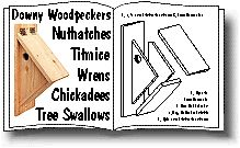Side Mounted Nestbox for Downy Woodpeckers, Nuthatches, Titmice, Wrens, Chickadees and Tree Swallows