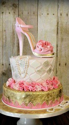 Shoe on a cake