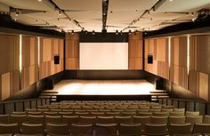 Gallery of New Pavilion for the McGill University Schulich School of Music / Saucier + Perrotte architectes - 7 Hall Design, Theatre Design, Floor Design, Ceiling Design, Auditorium Architecture, Auditorium Design, Interior Architecture, Church Architecture, Hall Interior