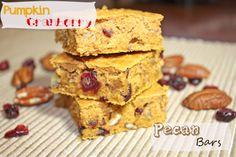 Pumpkin Cranberry & Pecan Bars  | BusyButHealthy.com