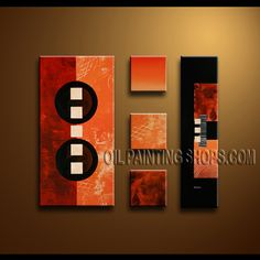 Stunning Modern Abstract Painting Hand-Painted Art Paintings For Living Room Abstract. This 5 panels canvas wall art is hand painted by Bo Yi Art Studio, instock - $173. To see more, visit OilPaintingShops.com