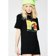 MTV Graphic Tee ($25) ❤ liked on Polyvore featuring tops, t-shirts, graphic t shirts, graphic design tees, graphic print tees, graphic design t shirts and graphic print top
