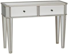 Amazon.com: Powell Mirrored Console with Silver Wood: Home & Kitchen