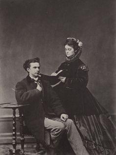 König Ludwig II. und seine Verlobte, Prinzessin Sophie, Herzogin in Bayern