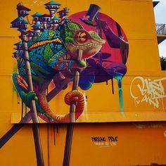 street art Kalouf in Papeete, Tahiti for onoutahiti
