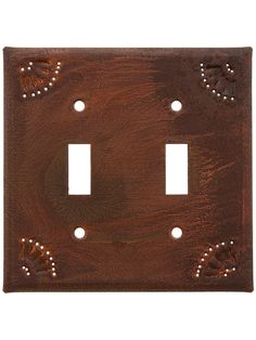 Pierced Country Tin Double Toggle Switch Plate | House of Antique Hardware