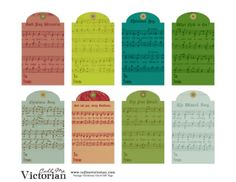 Printable vintage-christmas-music-tags by Marta Roig via slideshare
