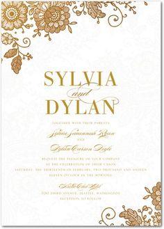 Radiant Beauty - Signature White Wedding Invitations - Magnolia Press - White | Find more wedding invitation templates at www.WeddingPaperDivas.com