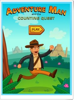Join Adventure Man as he races to find the hidden treasure before his arch nemesis, the sinister Mr. Early Math, Second Grade Math, Math Help, Amazing Adventures, Math Games, Educational Technology, The Man, Homeschool, Reading